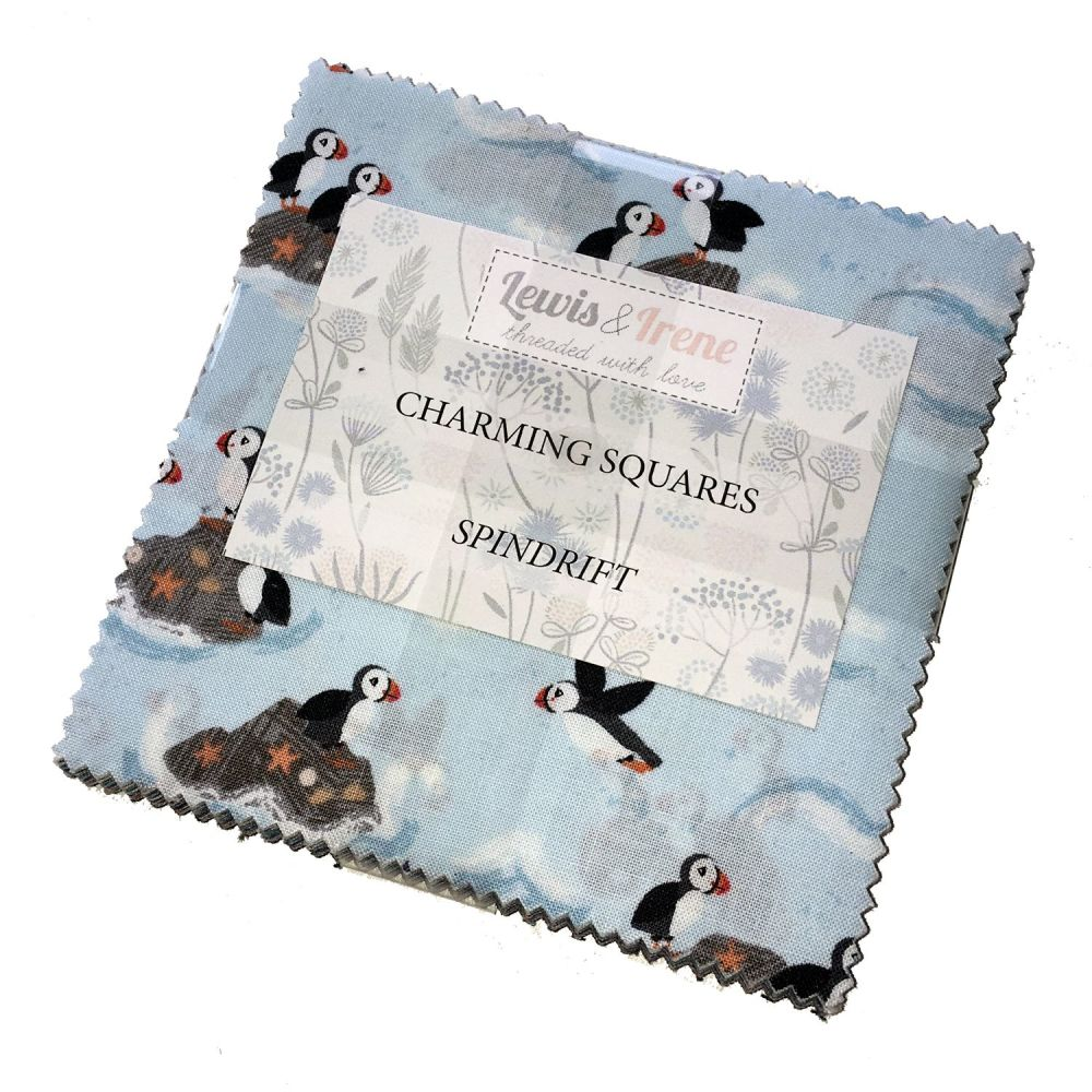 Lewis and Irene Spindrift Puffin Seaside Charm Square Quilting Squares