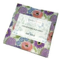 Lewis and Irene Bee Kind Floral Bees Charm Square Quilting Squares