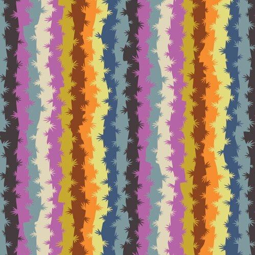 Horizons Grassy Mirage Moody Botanical Stripe Cotton Fabric