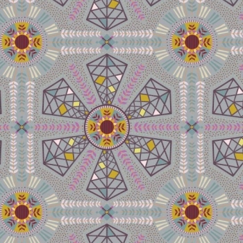 Horizons Wind Power Moody Geometric Botanical Floral Cotton Fabric