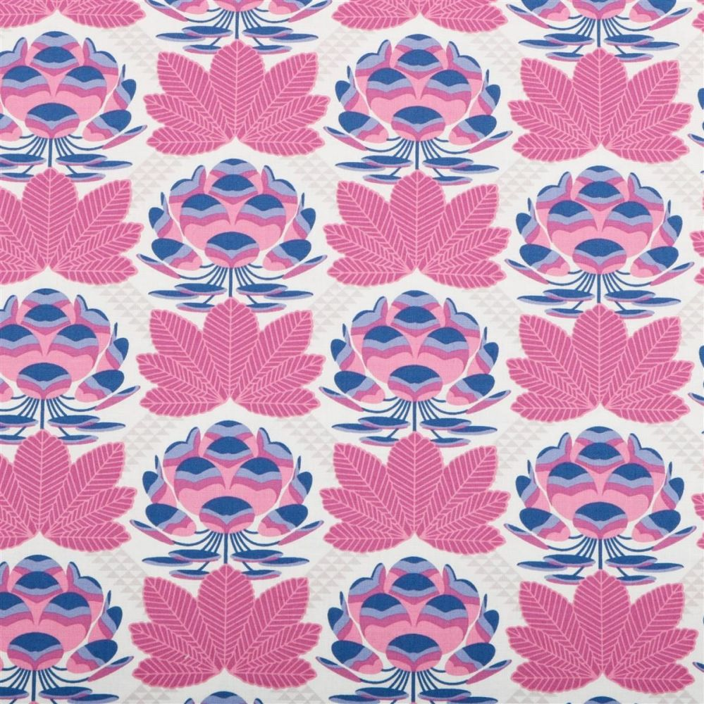 Avalon Sugar Bloom Berry Lotus Blossom Flower Geometric Floral Cotton Fabri