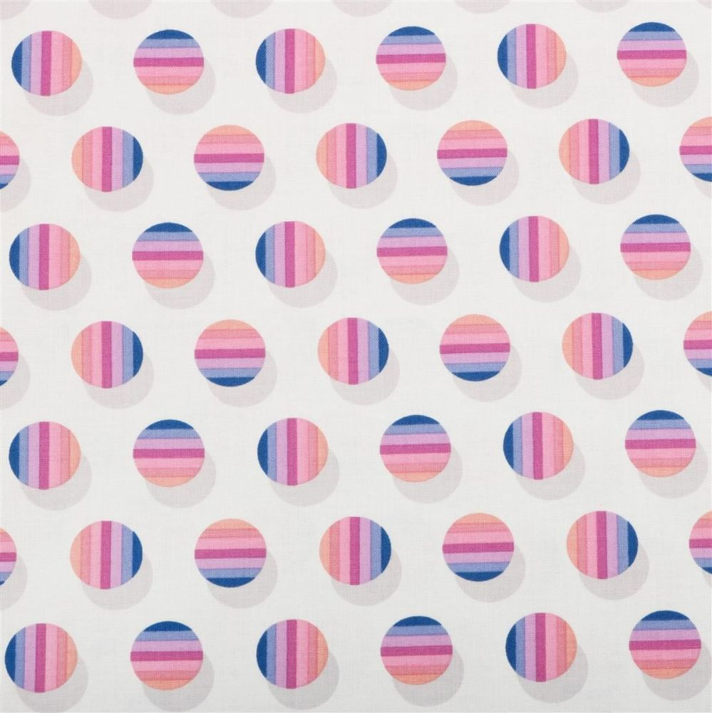 Avalon Poka Stripe Berry Spot Stripes Polkadot Geometric Cotton Fabric