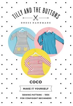 Tilly and the Buttons Coco Jersey Top Dress Pattern