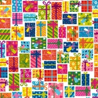 Joyeux Presents Gifts Wrapped Christmas Present Festive Gift Wrapping Cotton Fabric
