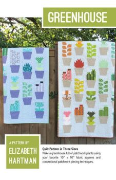 Elizabeth Hartman Greenhouse Cactus Succulent Quilt Pattern