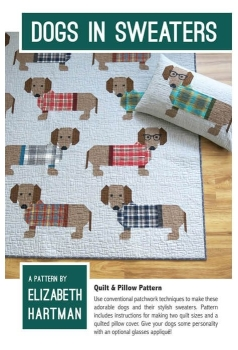 Elizabeth Hartman Sausage Dogs in Sweaters Quilt Pattern