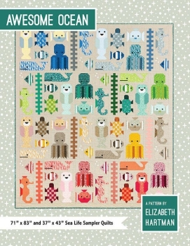 Elizabeth Hartman Awesome Ocean Quilt Pattern