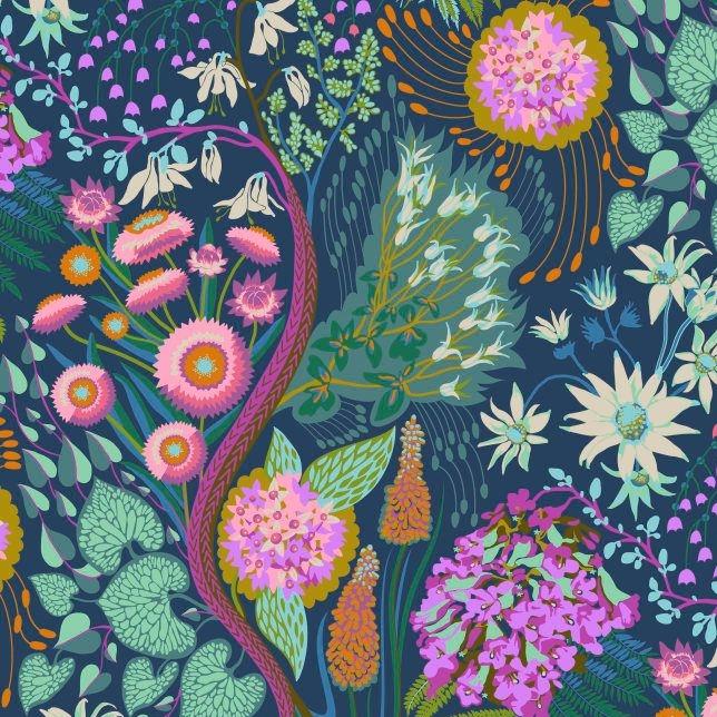 Anna Maria Horner Sweet Dreams Source Code Glisten Floral Botanical Cotton