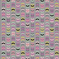My Gray or the Highway Up or Down Grey Geometric Chevron Cotton Fabric