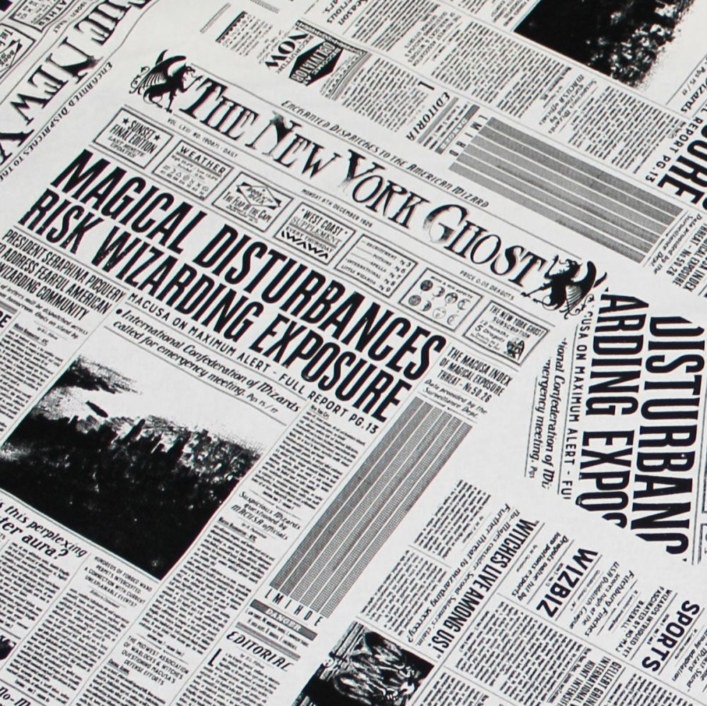 1bae24df526 Fantastic Beasts and Where To Find Them New York Ghost Newspaper Newsprint