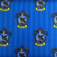 Harry Potter Hogwarts Ravenclaw House Crest Raven Magical Wizard Witch Cotton Fabric
