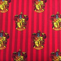 Harry Potter Hogwarts Gryffindor House Crest Lion Magical Wizard Witch Cotton Fabric