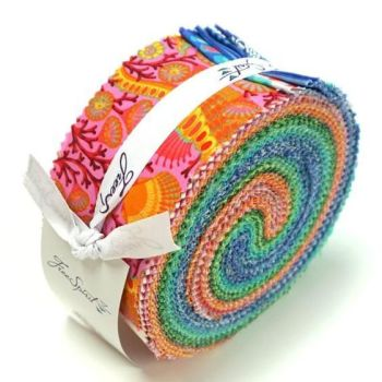 Zuma Design Roll Jelly Roll Tula Pink 40 Quilting Strips Cotton Fabric
