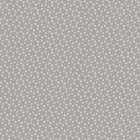 REMNANT Bijoux Clover Concrete Tiny Leaf Leaves Grey White Blender Cotton Fabric by Andover