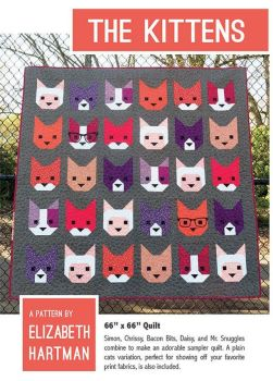 Elizabeth Hartman The Kittens Cat Faces Cats Quilt Pattern
