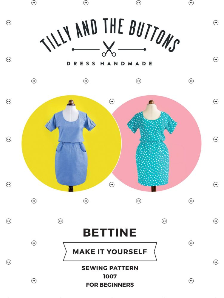 Tilly and the Buttons Bettine Dress (Beginners Upwards) Pattern Included