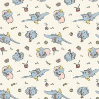Disney Classics Dumbo Circus Fun Baby Elephant Nursery Cotton Fabric