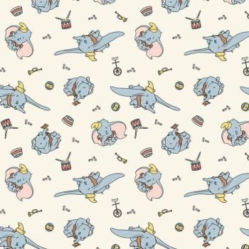 0ab8da463b1 Disney Classics Dumbo Circus Fun Baby Elephant Nursery Cotton Fabric