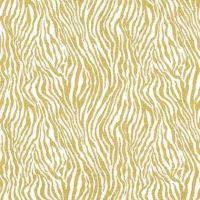Mini Zebra Stripe Gold Metallic Safari Animal Print Gliiter Critters Cotton Fabric