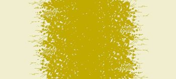 Adorn Silhouette Gold Floral Alison Glass Double Border Cotton Lawn Fabric for Dressmaking