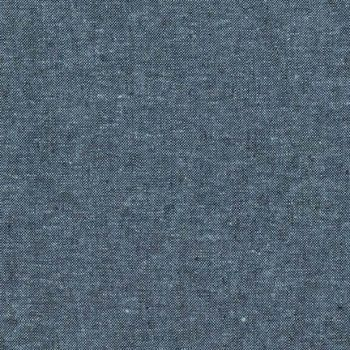 Essex Yarn Dyed Linen Nautical 412 Blend Woven Shot Chambray Cotton Linen Fabric