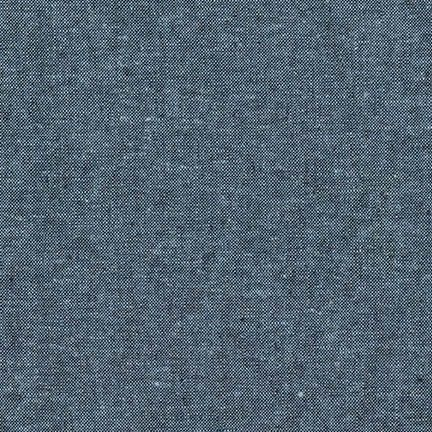 Essex Yarn Dyed Linen Nautical 412 Blend Woven Shot Chambray Cotton Linen F