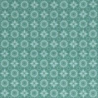 Flower Teal Floral Dotty Celadon Stof France Stretch Cotton Jersey Knit Fabric
