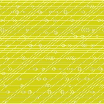 REMNANT Diving Board Latitude Seaweed Green Lime Citrus Arrow Linear Geometric Arrows Blender Cotton Fabric