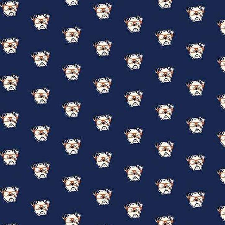 Hey Mister Profile Pic Navy Bulldog Glasses Bull Dog Bulldogs Dogs Cotton F
