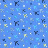Flight Pattern Planes Methyl Tiny Planes Airplane Aeroplane Transport Travel Dear Stella Cotton Fabric