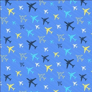 Flight Pattern Planes Methyl Tiny Planes Airplane Aeroplane Transport Travel Dear Stella Cotton Fabric