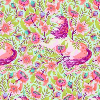 Tula Pink Pinkerville Imaginarium Cotton Candy Unicorn Floral Unicorns Flower Botanical Cotton Fabric