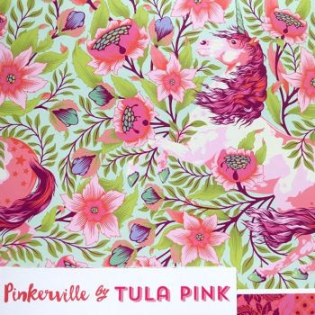 PRE-ORDER Pinkerville Tula Pink 21 Fat Quarter Bundle Cotton Fabric Cloth Stack Full Collection