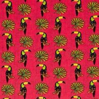 Toucan Tucana Grenadine Lorraine Toucans Pink Digital Extra Wide Cotton Fabric