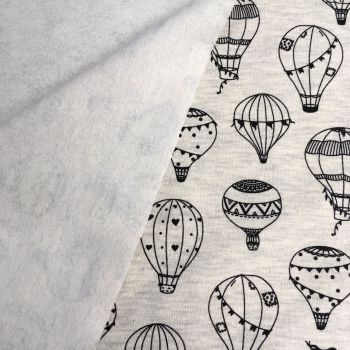Hot Air Balloon Brushed French Terry Balloons Sweatshirt Jumper Fabric
