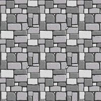 DESTASH 1 Metre Dragons Rock Gray Stone Wall Brick Grey Bricks Building Castle Nursery Cotton Fabric