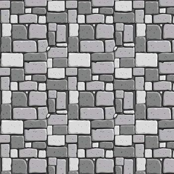 Dragons Rock Gray Stone Wall Brick Grey Bricks Building Castle Nursery Cotton Fabric
