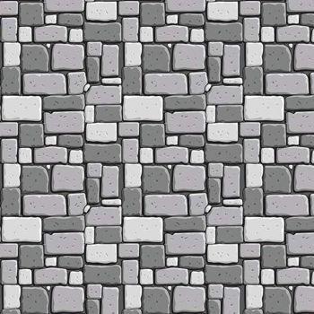 Dragons Rock Gray Stone Wall Brick Grey Bricks Building Castle Nursery Cotton Fabric