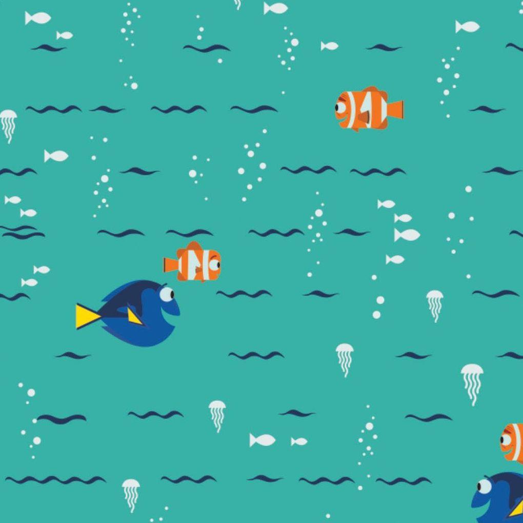 Disney Finding Dory Swimming Turquoise Nemo Marlin Fish Jellyfish Ocean Cot