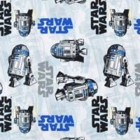 Star Wars R2-D2 Droid Space Droids Character Cotton Fabric by Camelot