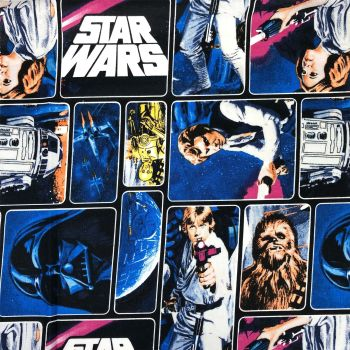 Star Wars Immortals Characters Darth Vader Jedi R2-D2 Chewbacca Han Solo Leia Luke Cotton Fabric