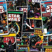 Star Wars Immortals Comic Books Darth Vader Boba Fett Obi Wan Kenobi Cotton Fabric