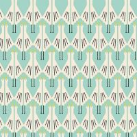 Special Delivery Storks Cranes Stork Bird Aqua Cotton Fabric