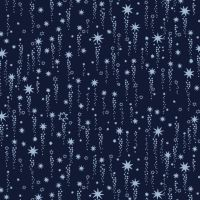 Luna Shooting Stars Navy Star Low Volume Blue Space Sky Dear Stella Cotton Fabric