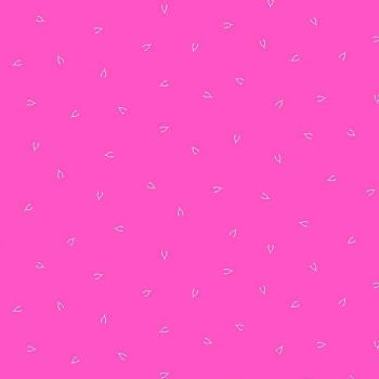 Lucky Charms Basics Wish Bone Pink Wishbones Fuschia Figo Cotton Fabric