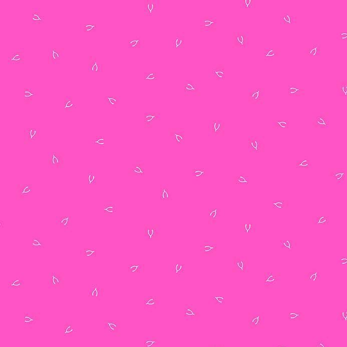 Lucky Charms Basics Wish Bone Pink Wishbones Figo Cotton Fabric