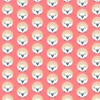 Quills Hedgehogs Glitter Critters Bubble Gum Hedgehog Metallic Gold Coral Cotton Fabric