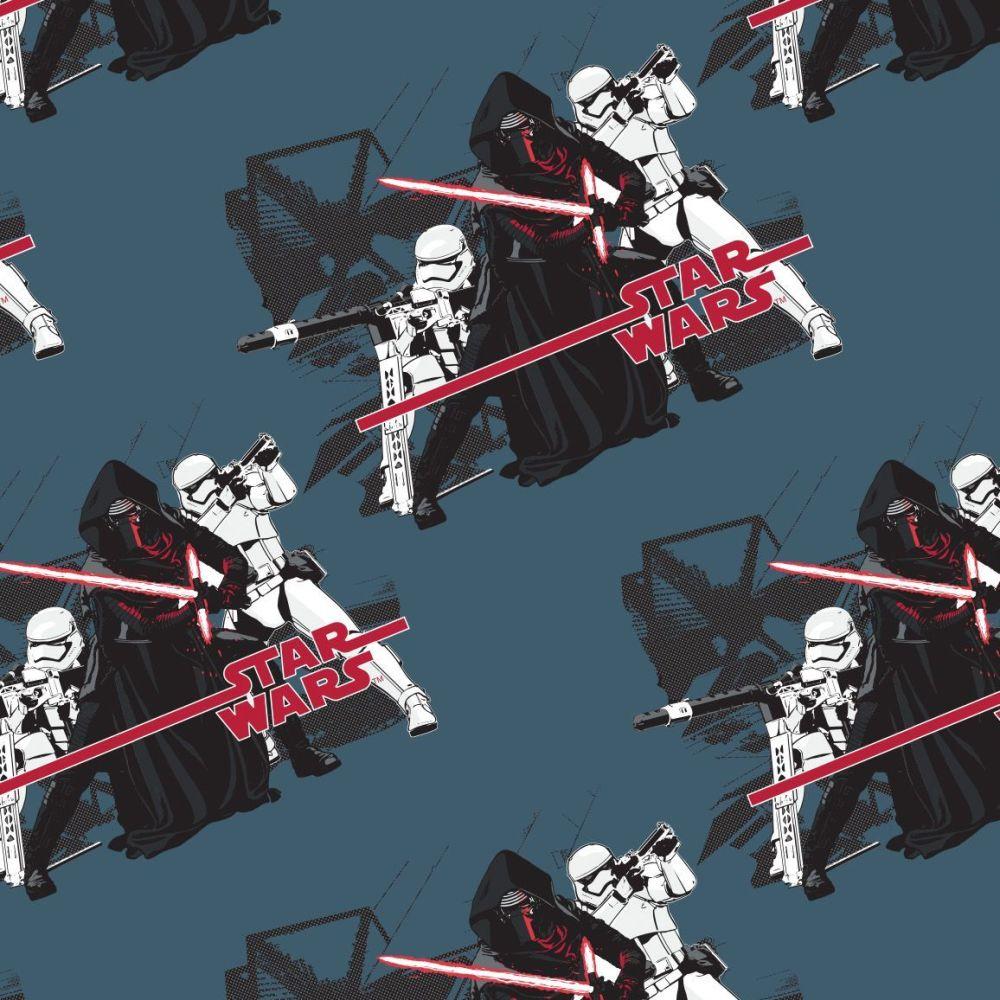 Disney Star Wars Imperial Midnight Kylo Ren Stormtrooper Cotton Fabric