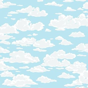 Sea Breeze Cloud Blue Sky Clouds Cloudy Skies Cotton Fabric