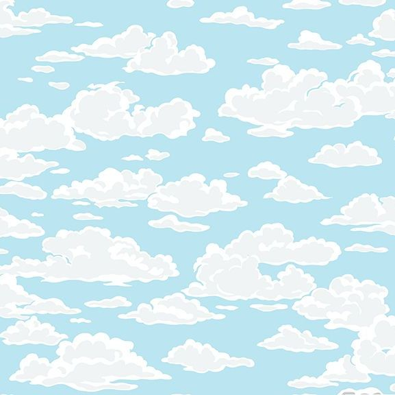Sea Breeze Cloud Blue Sky Clouds Cloudy Skies Cotton Fabric